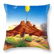 Agave Bloom Throw Pillow
