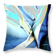 Agave Flair Abstract Throw Pillow