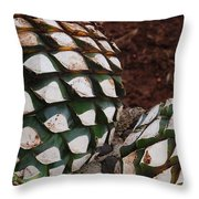 Agave Pineapples Throw Pillow