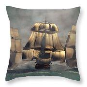 Age Of Sail Throw Pillow