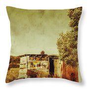Aged Australia Countryside Scene Throw Pillow