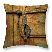 Aged Latch Throw Pillow