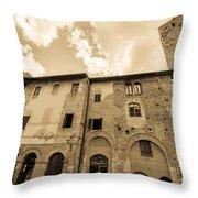 Aged San Gimignano Throw Pillow