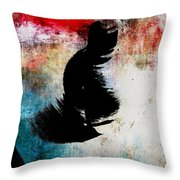 Aged Silhouette Throw Pillow