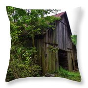 Aged Wood Barn Throw Pillow