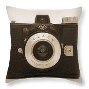 Agfa Clack Camera Throw Pillow