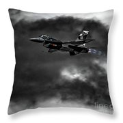 Aggressor #pacafdemo Viper Screaming Under Clouds Throw Pillow