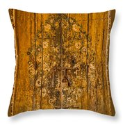 Aging Decorative Door Throw Pillow