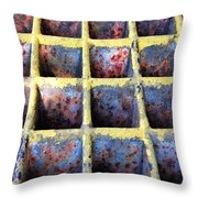 Aging Steel Throw Pillow