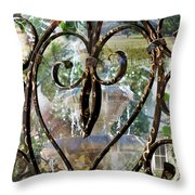 Aging With Time Throw Pillow by Leslie Kell