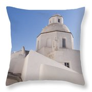 Agios Minas Santorini Throw Pillow