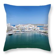 Agios Nikolaos Overview Throw Pillow
