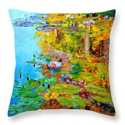 Aglow With Fall Throw Pillow