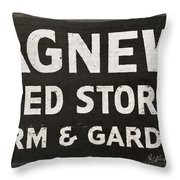 Agnew Seeds Roanoke Virginia Throw Pillow