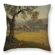 A_golden_summer_day_near_oakland Throw Pillow