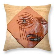 Agony - Tile Throw Pillow