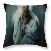 Agony In The Garden By Frans Schwartz, 1898 3 Throw Pillow