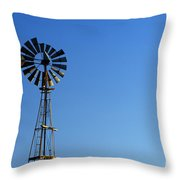 Agricultural Windmill Throw Pillow