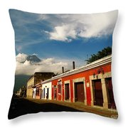Agua Looking Over Antigua Throw Pillow