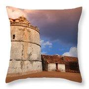 Aguada Fort Goa Throw Pillow