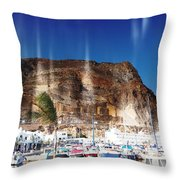 Aguadulce Port Throw Pillow