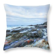Aguas Verdes - Fuerteventura Throw Pillow