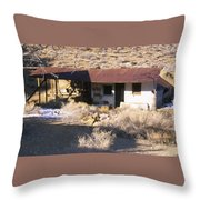 Aguereberry Camp - Death Valley Throw Pillow