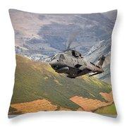 Agusta Merlin Flies The Loop  Throw Pillow