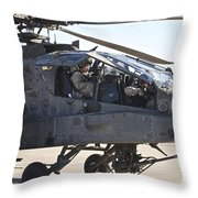 Ah-64d Apache Longbow Pilot Prepares Throw Pillow