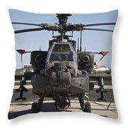 Ah-64d Apcahe Longbow At Pinal Airpark Throw Pillow