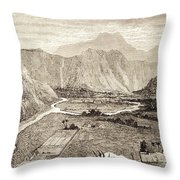 Ahuapuaa Lithograph Throw Pillow