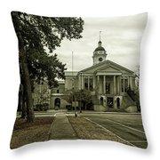 Aiken County Courthouse Throw Pillow