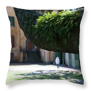 Aiken Rhett House Grounds Throw Pillow