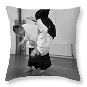 Aikido Up And Down Throw Pillow
