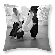 Aikido Wrist Lock  Throw Pillow