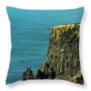 Aill Na Searrach Cliffs Of Moher Ireland Throw Pillow