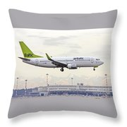 Air Baltic Boeing 737-300 Throw Pillow