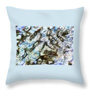 Air Bubbles Underwater - Abstract Throw Pillow