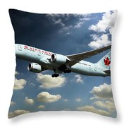 Air Canada 787 Dreamliner Throw Pillow