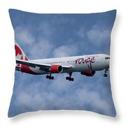 Air Canada Rouge Boeing 767-333 1 Throw Pillow