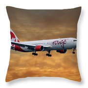 Air Canada Rouge Boeing 767-333 2 Throw Pillow