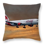 Air Canada Rouge Boeing 767-333 3 Throw Pillow