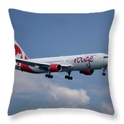 Air Canada Rouge Boeing 767-333 4 Throw Pillow