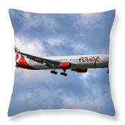 Air Canada Rouge Boeing 767-35h 118 Throw Pillow