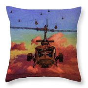 Air Cavalry Bell Uh-1 Huey  Throw Pillow