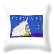 Air Force Academy Blue Throw Pillow by Sam Brennan