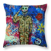 Air Force Day Of The Dead Throw Pillow