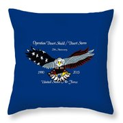 Air Force Desert Storm Throw Pillow