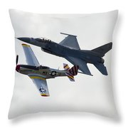 Air Force Heritage Flight Throw Pillow