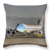 Air Force One In Palm Springs Throw Pillow